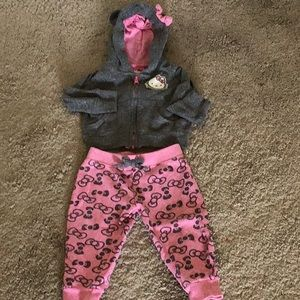 Infant Girls' Hello Kitty Hoodie w Matching Pants